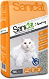 Sanicat Clumping Absorbent Cat Litter, 20 Litre
