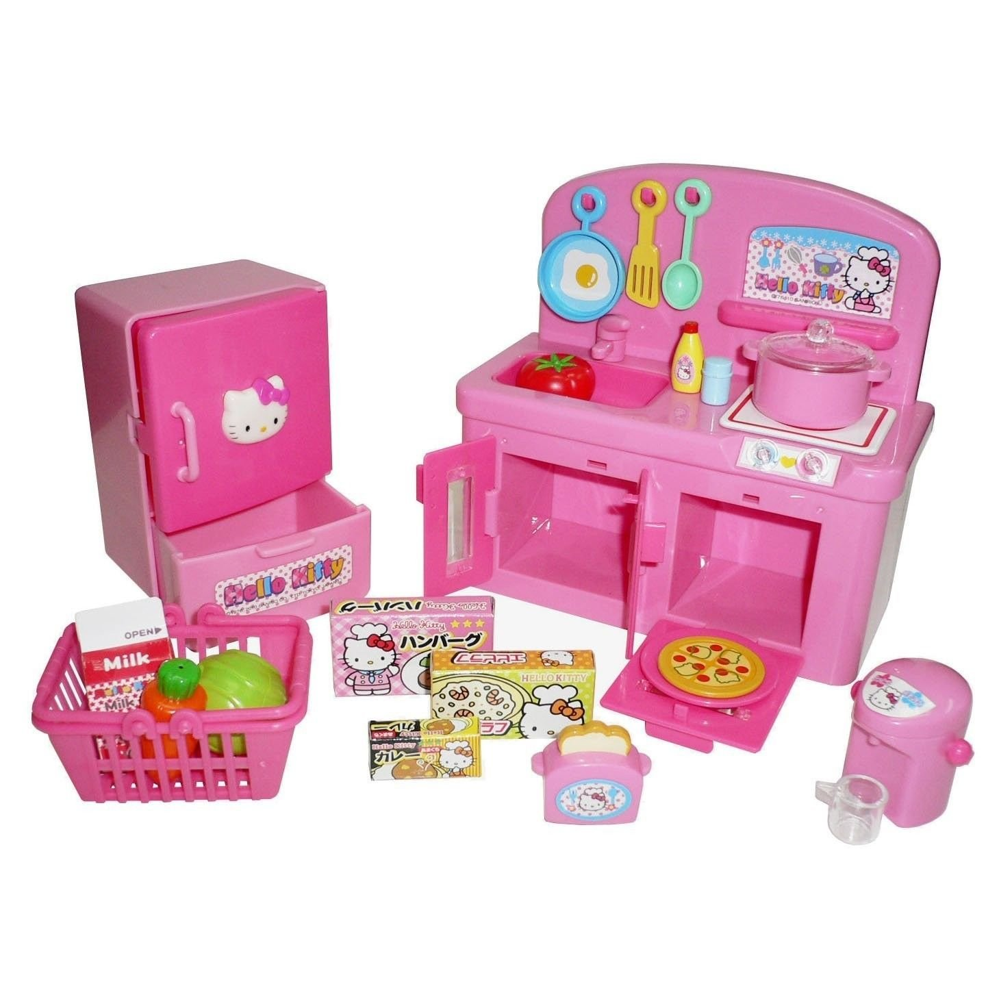 Hello Kitty Kitchen and Refrigerator Sets Sold Together - Everything Needed for Cooking Play by Hello Kitty (Image #2)
