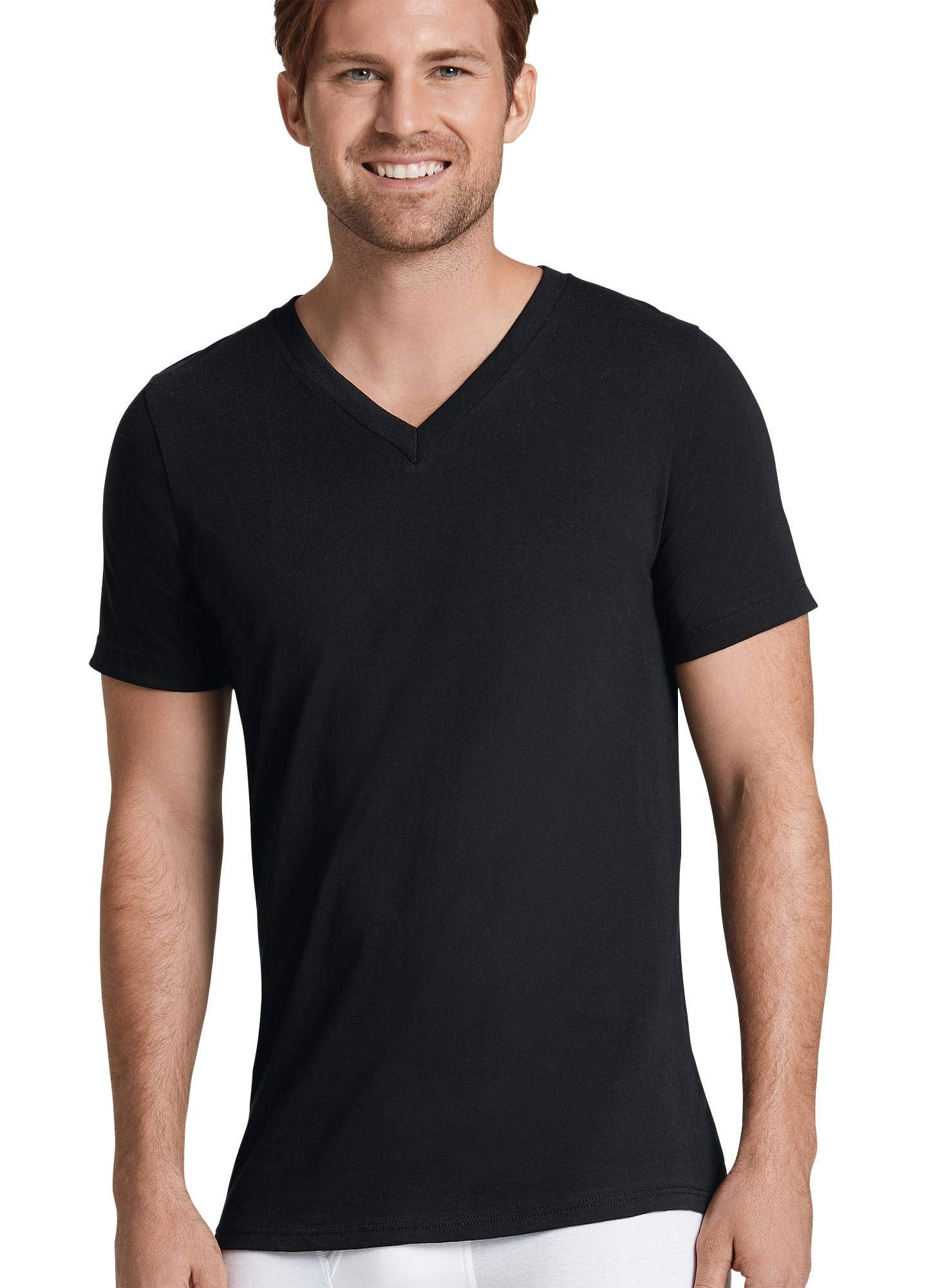 Jockey Men's T-Shirts Classic V-Neck T-Shirt - 6 Pack, Black, XL by Jockey