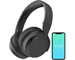 WYZE Noise Cancelling Headphones, Wireless Over The Ear Bluetooth Headphones with Active Noise Cancellation, High-Fidelity So