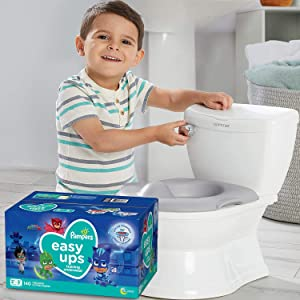 Potty Training Seat Starter Kit—My Size Potty Train & Transition and Pampers Easy Ups 2T-3T Potty Training Underwear for Boys and Girls, Size 4, 140 Count (Packaging May Vary)