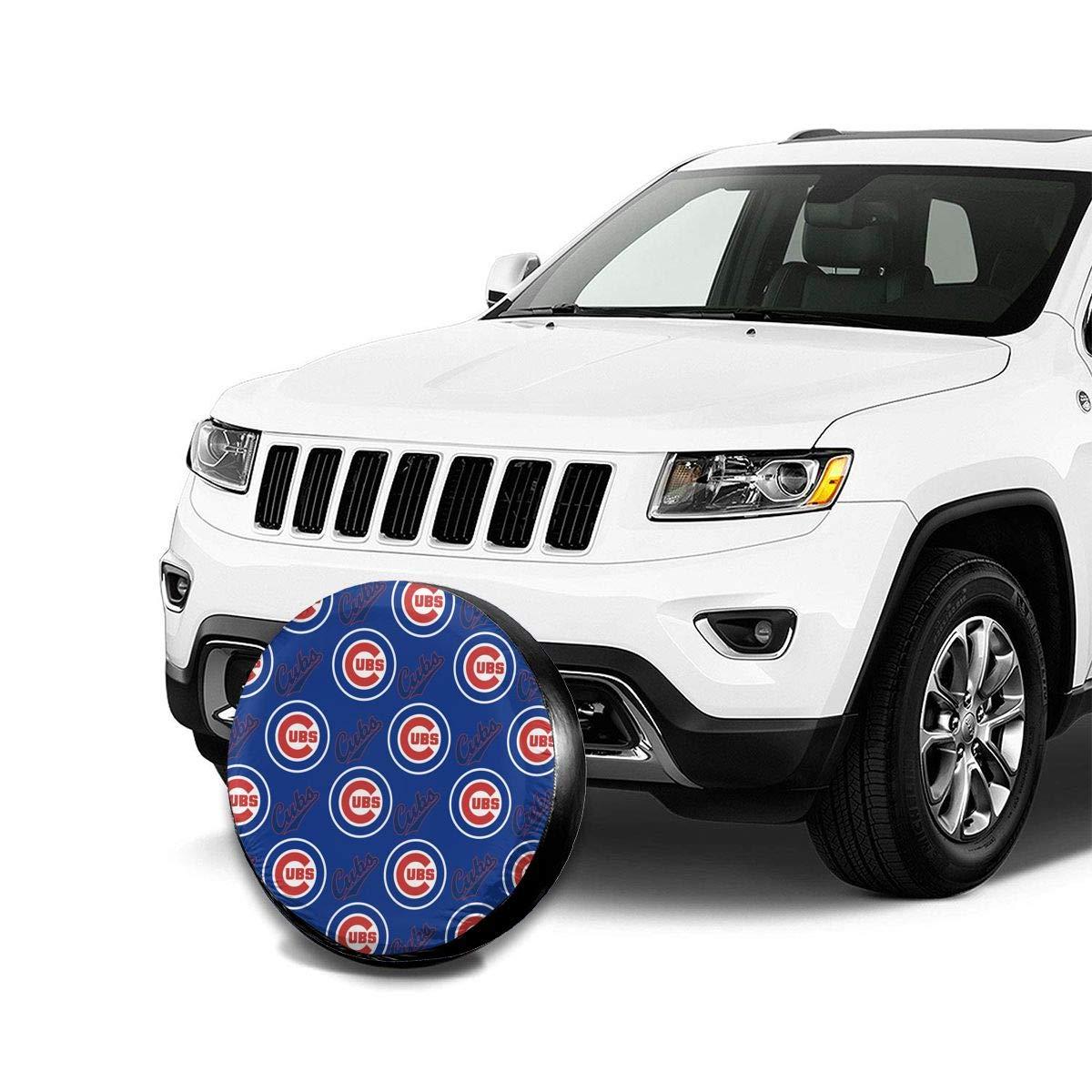 Waynejunior Chicago Spare Tire Cover Wheel Cover Universal Tire Covers for Jeep Trailer RV SUV Truck Camper Travel Trailer Accessories 17 Inch