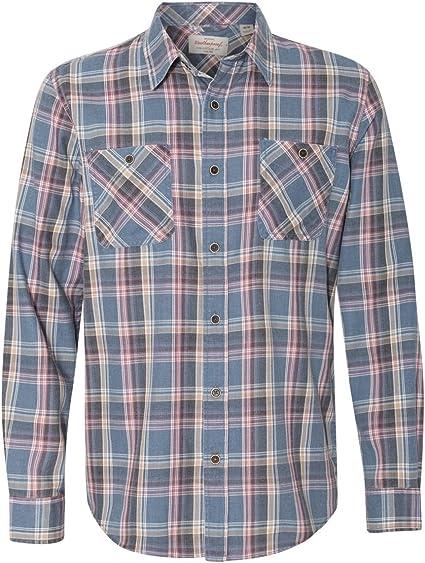 Weatherproof Vintage Mens Dot-Pattern Cotton Shirt Green Small