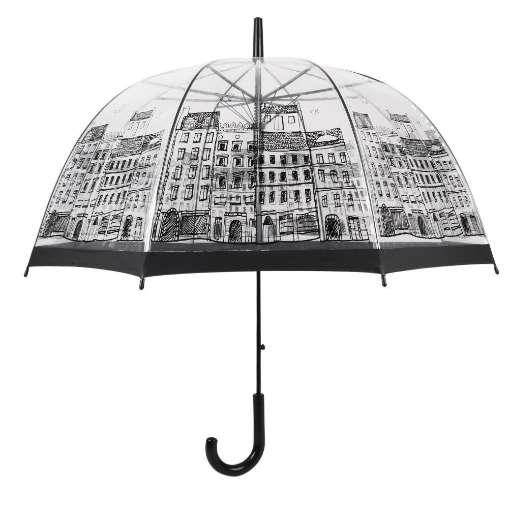 Paraguas dibujo ciudad