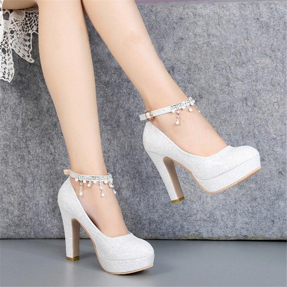 HXVU56546 Frühling Und Herbst Neue Lady Lady Lady Crystal Schuhe Mit Braut Schuhe High Heels B07BBPNKWT Tanzschuhe Guter Markt 680f1c