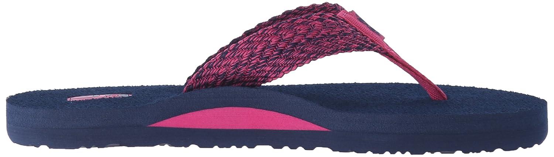 Teva Women's Mush II Flip-Flop B0126LZRZ8 5 B(M) US|Tiki Navy/Raspberry