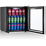 Costway Beverage Refrigerator Portable Mini Beer Wine Soda Drink Beverage Cooler Black (60 Can)