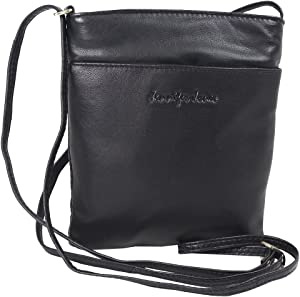 455a98c965fc79 Jennifer Jones Taschen Damen 100% Leder Damentasche Handtasche  Schultertasche Umhängetasche Tasche klein Crossbody Bag grau