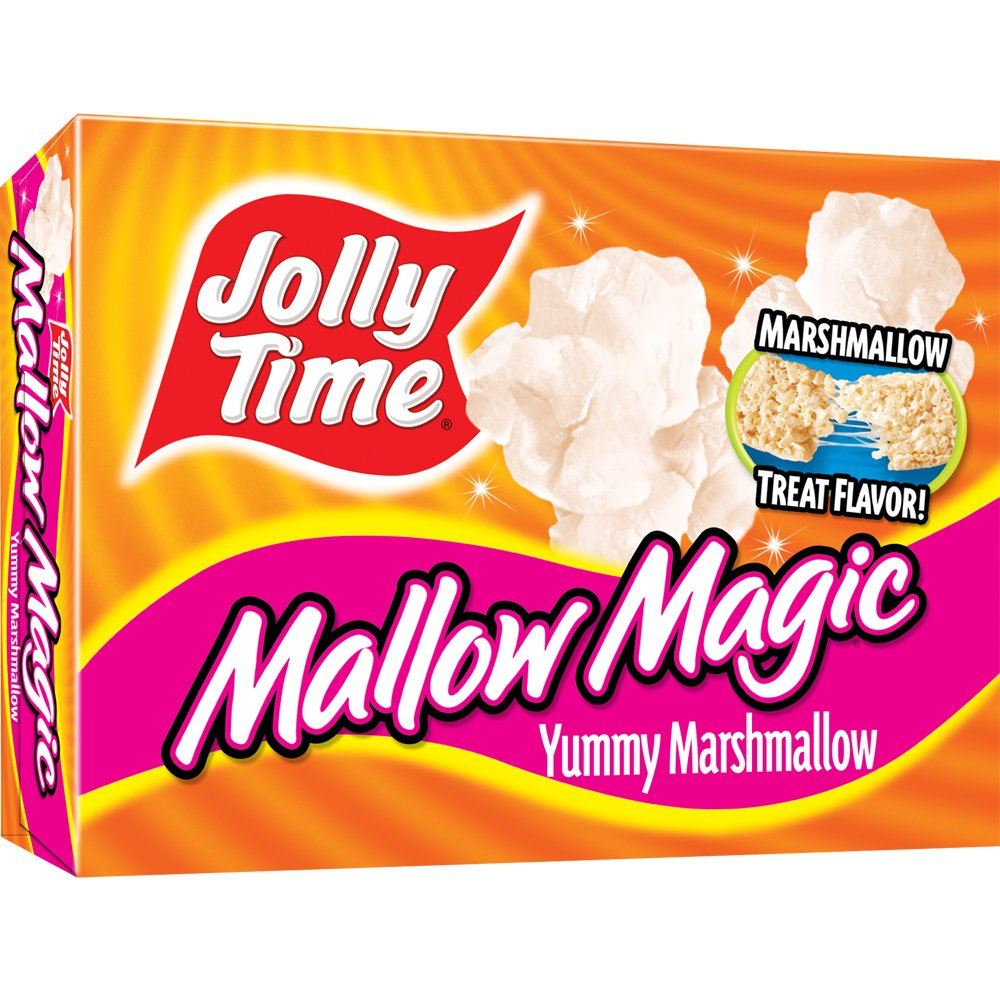 Jolly Time Mallow Magic Sweet Marshmallow Flavor Microwave Popcorn, 2-Count Boxes, 8.8oz (Pack of 12)
