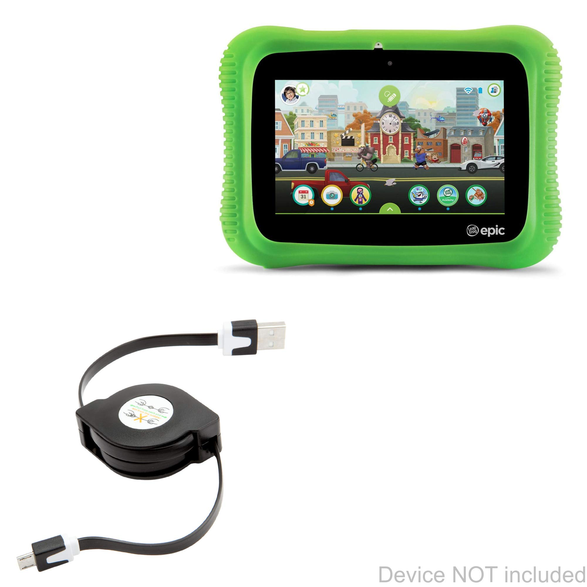 BoxWave Leapfrog LeapPad Epic Acadamy Cable, [miniSync] Retractable, Portable Sync Cable for Leapfrog Epic | LeapPad Epic Acadamy, Ultimate