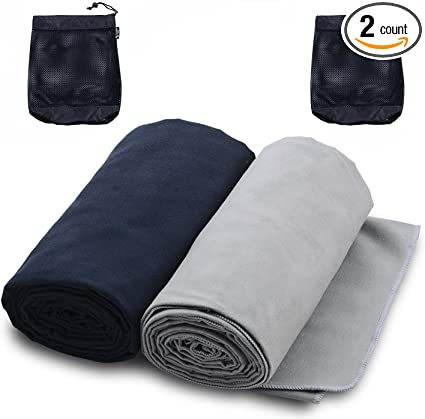 AMEXI Outdoors Microfiber Camping Towel Fast Drying Lightweight 2 Size Quick Dry Travel Towel /& Sport Towel