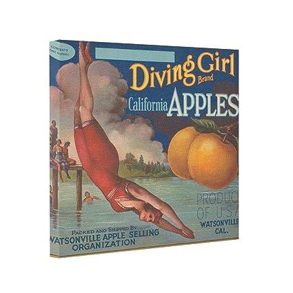 amazon com tinaxion canvas picture frames vintage diving gallery