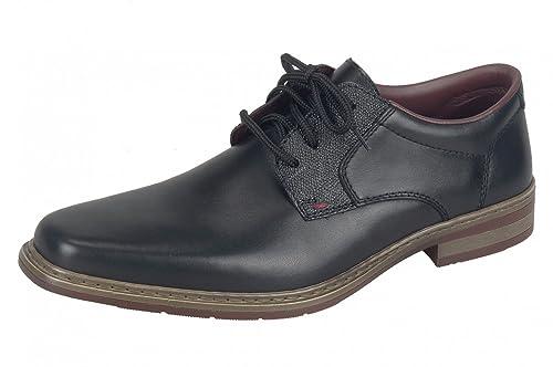 Rieker 10822 - Zapatos con Cordones de Cuero Hombre, Color Negro, Talla 43