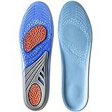 Kalak: GEL Einlegesohlen Sports Comfort Cuttable Einlegesohlen für Dämpfung (Herrengröße (EUR 40-46,5))
