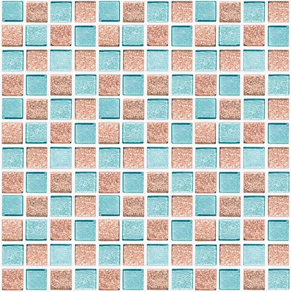 30 Piezas Cenefa Adhesiva Cocina Azulejos Adhesivos Pegatinas Mosaico Pegatinas de Baldosas de Azulejos para Ba/ño y Cocina GLOBALDREAM Pegatinas de Baldosas 10 cm x 10 cm