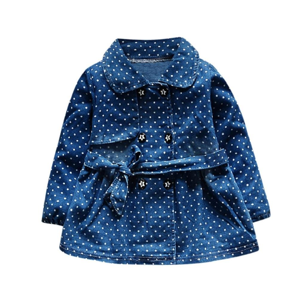 Wenjuan-Baby Product OUTERWEAR ベビーガールズ 6 Months Blue D B07GPWDRY8