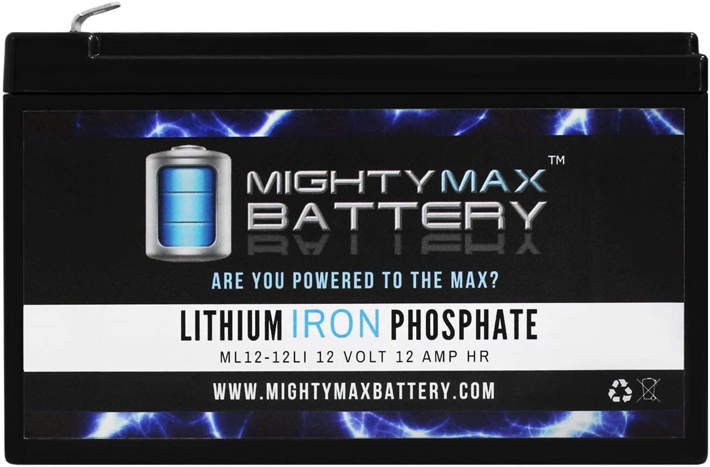 Mighty Max Battery 12V 12Ah Lithium Replacement Battery for Phantom 500 Electric Scooter Brand Product