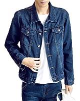 [RSWHYY] メンズ デニム テーラード ジャケット コート ジャケット アウター コート ジャンパー 春秋 長袖 ジージャン Gジャン ファッション大きいサイズ ライダース ヴィンテージ 細身 お出かけ