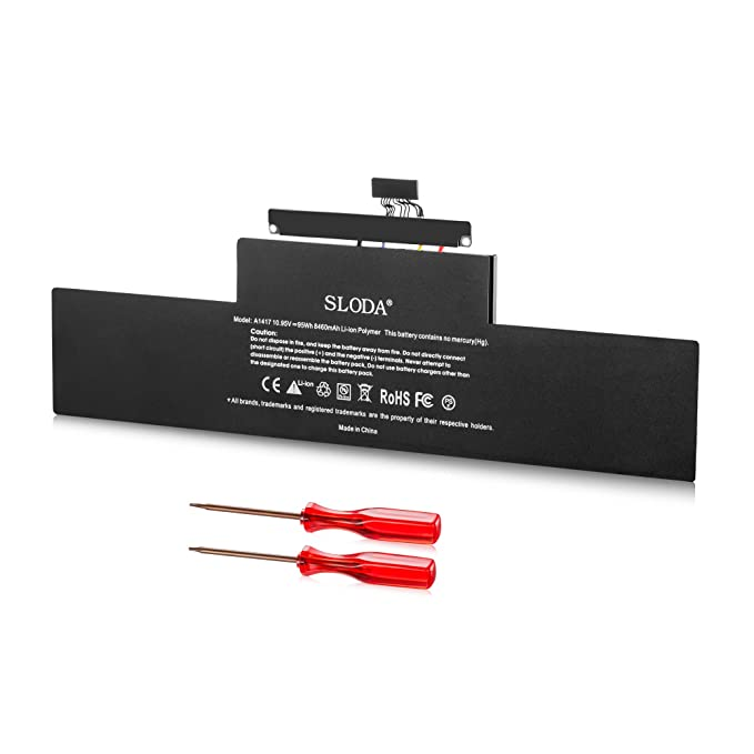 1 opinioni per SLODA Nuovo Batteria Per Apple Macbook Pro 15 pollici A1417 (A1398 Mid-2012