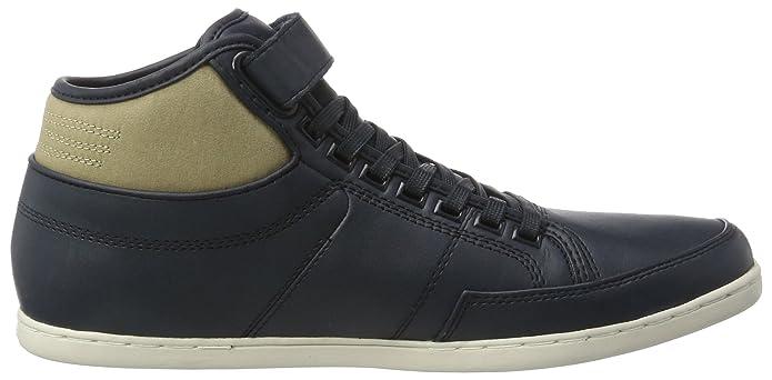 Boxfresh Swich Sh Lea/Cnvs, Sneaker a Collo Alto Uomo, Blu (Blau Nvy/Kelp), 41 EU