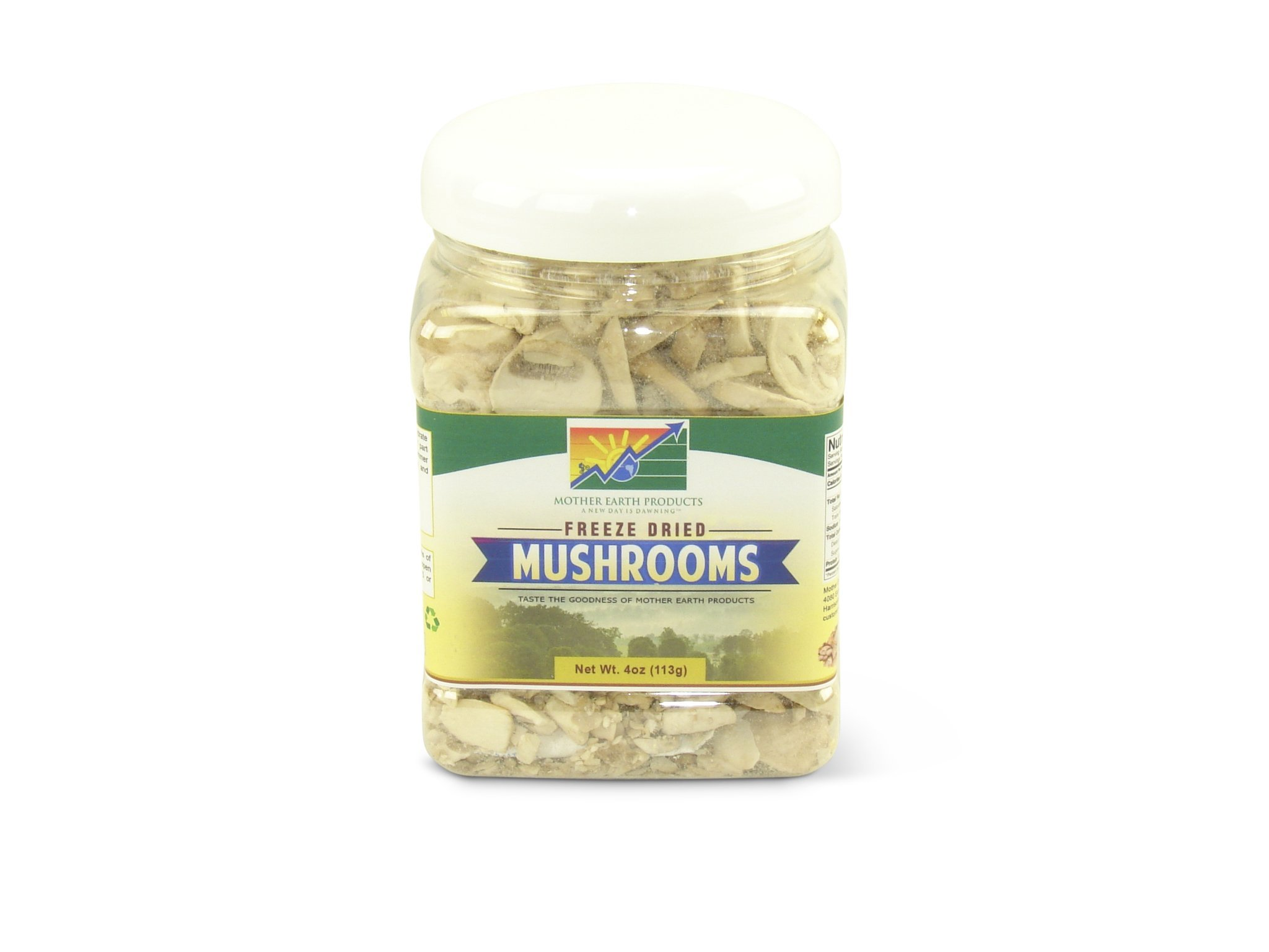Mother Earth Products Freeze Dried Mushrooms, Quart Jar by Mother Earth Products (Image #1)