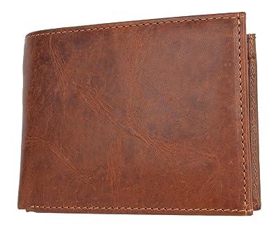 c572931ab2d747 Herren Braunes Geldbörse aus Echtem Naturleder ohne Logos oder Markierungen