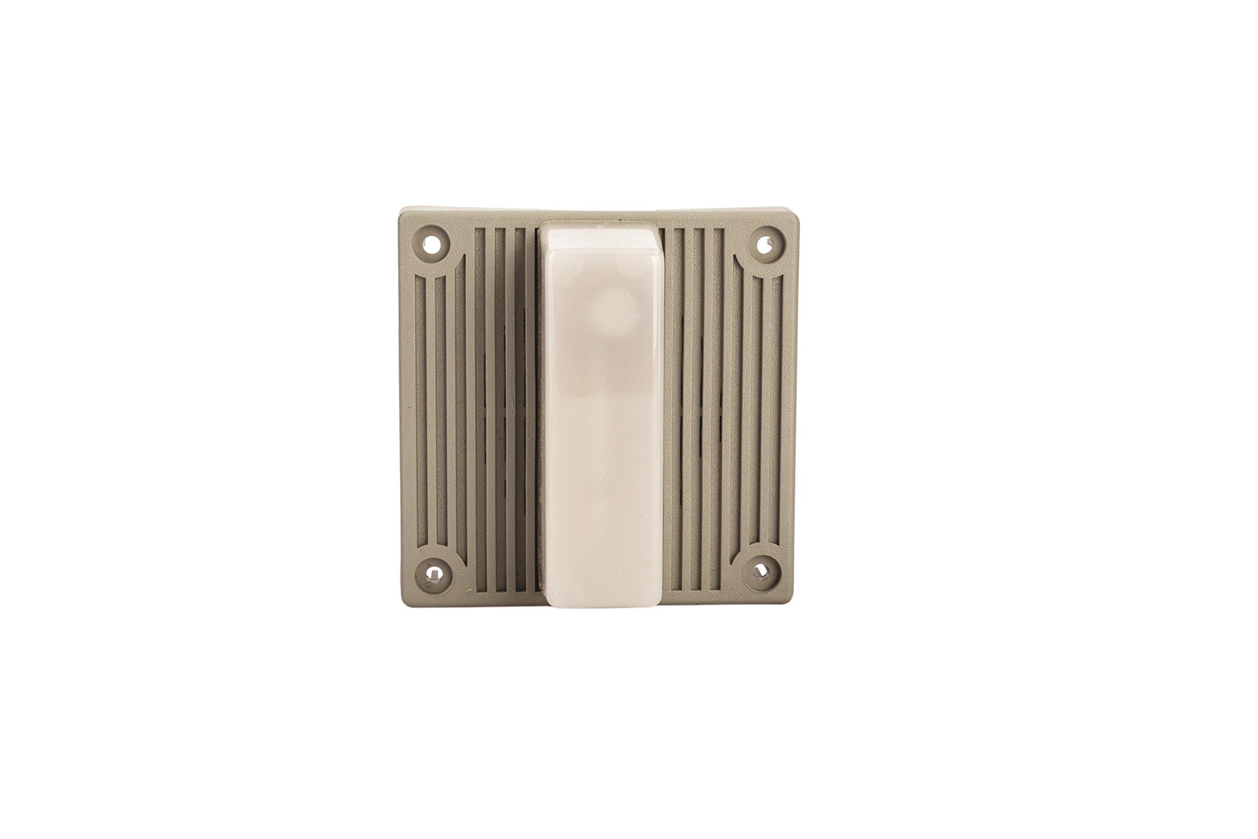 Steel Mechanical Strobe Horn, 120VAC, 0.115 Amp Input Current, 96dB at 10' Range, 15 Candela Intensity