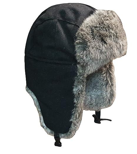 335dd69695a Amazon.com  SHAHIN USA Classic Design Wool Trapper Hats Faux Fur Trapper  Hunting Aviator Winter Cap  Clothing