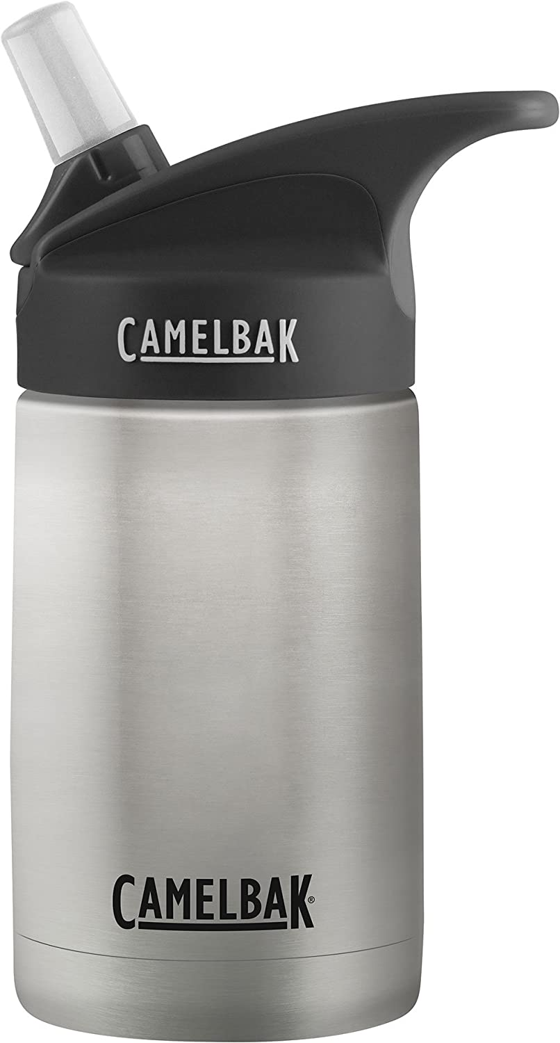 CamelBak Eddy 12-Ounce Vacuum Stainless Steel Water Bottle - Insulated Water Bottle - Easy Use for Kids - CamelBak Big Bite Valve - No Spilling - Water Bottle with Straw – 12 Ounces
