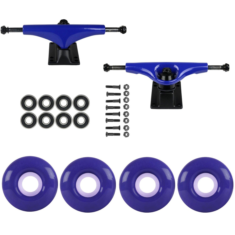 スケートボードパッケージHavocブルー5.0 Trucks 52 MmバイオレットパープルABEC 7 Bearings   B01IFALXIE