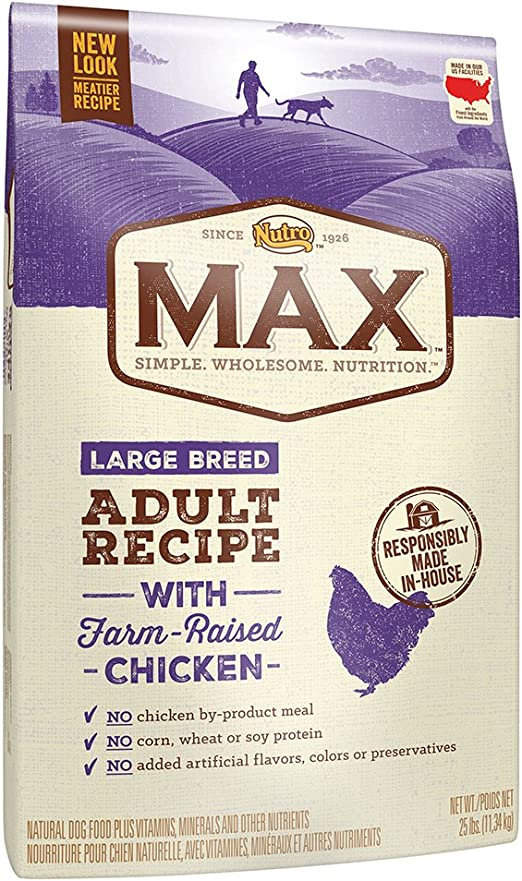 Nutro Max Large Breed ADULT con granja Raised pollo seco perro alimentos, 25 kg por Nutro: Amazon.es: Productos para mascotas