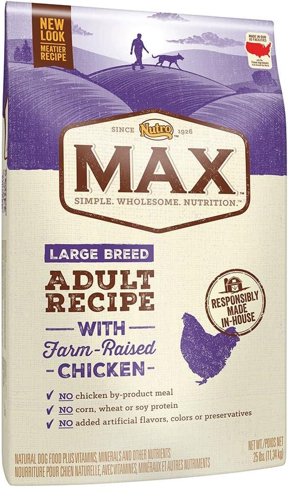 Nutro Max Large Breed ADULT con granja Raised pollo seco perro alimentos, 25 kg por Nutro: Amazon.es: Productos para mascotas
