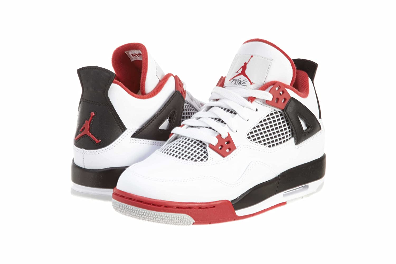 outlet store b8f37 b8fe9 Amazon.com   Nike Air Jordan 4 Retro (GS) Boys Basketball Shoes 408452-110    Basketball