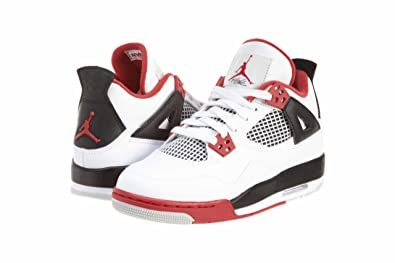 4e246ae58b9a8b Image Unavailable. Image not available for. Color  Nike Air Jordan 4 Retro  GS Fire Red ...
