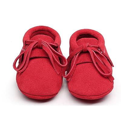 aea089af82f73 Backbuy Confortables Chaussons Pour Bébé à Cuir Nubuck Lacets Up Chaussures  Premiers ...