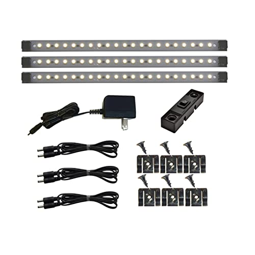 Le Dimmable Under Cabinet Lighting 3 Panel Deluxe Kit: LED Cove Light: Amazon.com