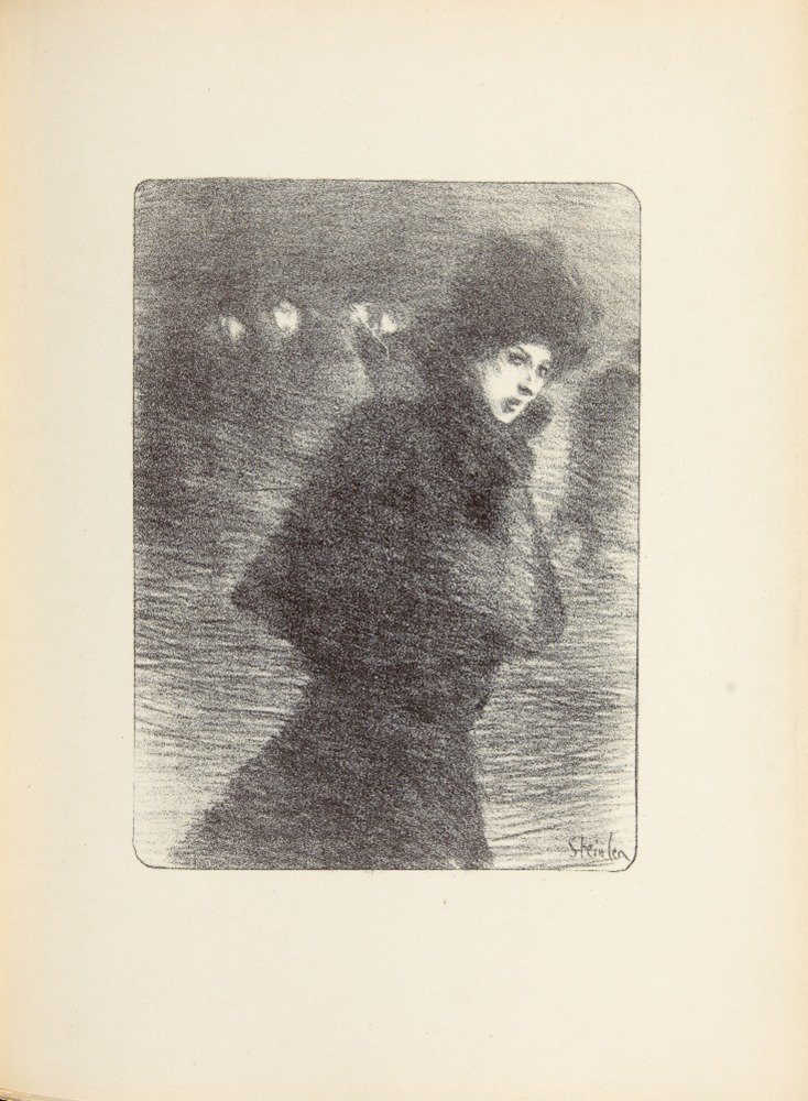 L 'oeuvre Grave Et Lithographie de steinlenposter (アーティスト: Steinlen , Theophile Alexandre ) C。1913 16 x 24 Giclee Print LANT-65660-16x24 B017ZFFMF0  16 x 24 Giclee Print