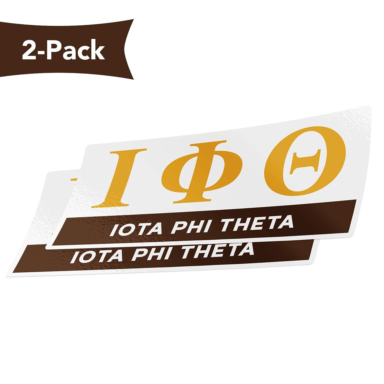 Color//Letter Name Sticker Desert Cactus Iota Phi Theta 2-Pack Color Letter//Name Sticker Decal Greek for Window Laptop Computer Car iota