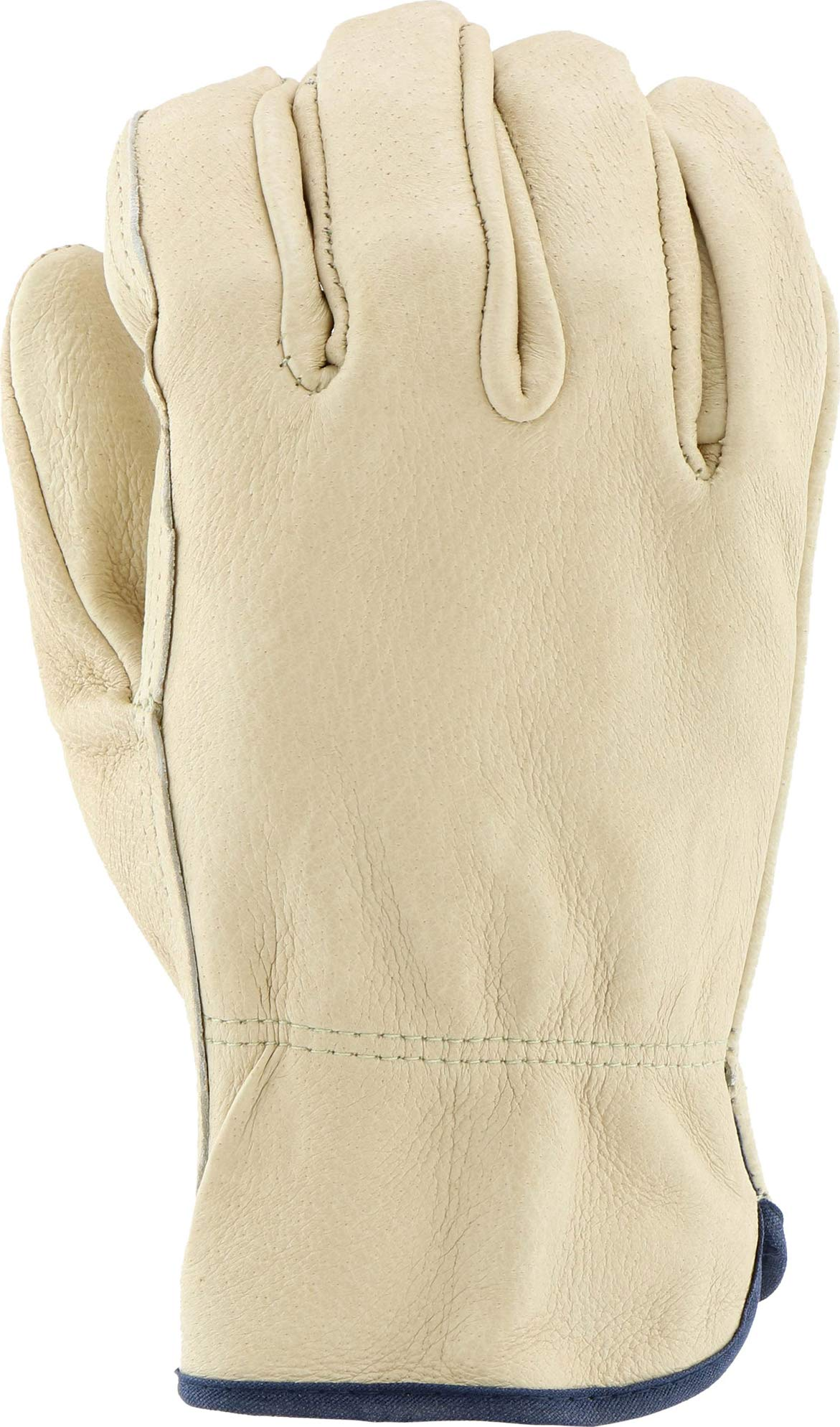 West Chester 994 Select Grain Pigskin Leather Driver Work Gloves: Straight Thumb, Large, 12 Pairs by West Chester (Image #4)