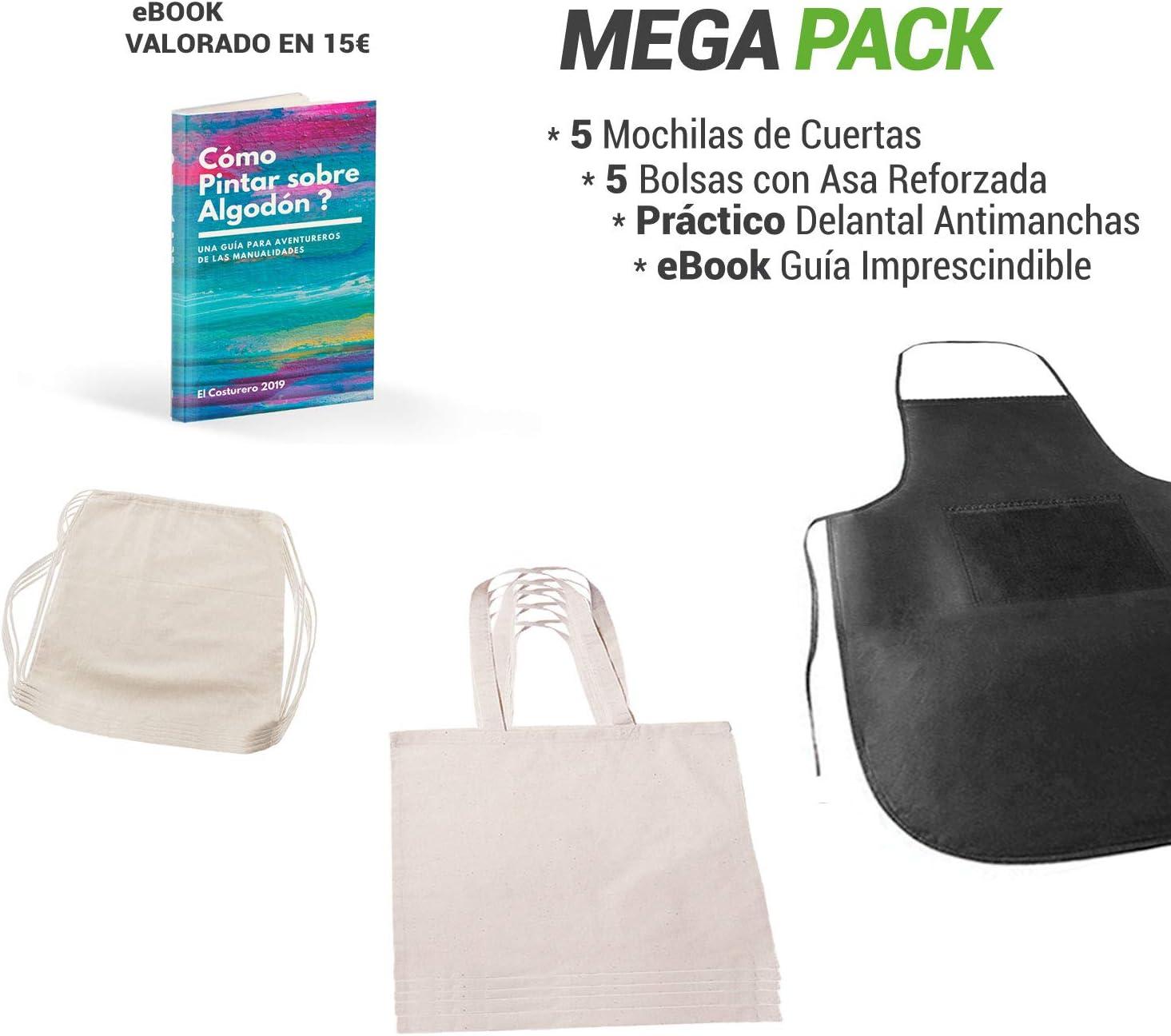 Mega Pack de Bolsas y Mochilas reutilizables de Cuerdas de Algodón ...