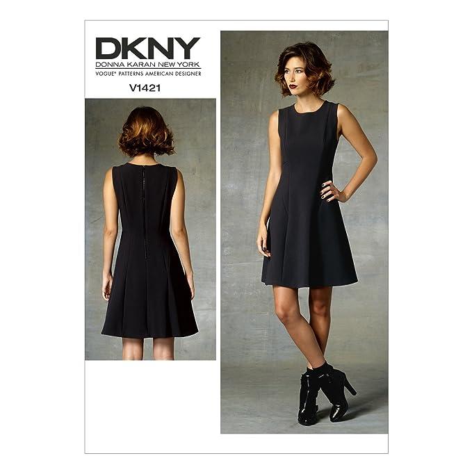 Vogue Patterns 1421 A5 Sizes 6/8/10/12/14 Misses Dress, Multi-Colour ...