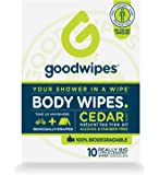 Goodwipes Body Wipes, Cedar Scent, 10 Individually Wrapped Wet Wipes