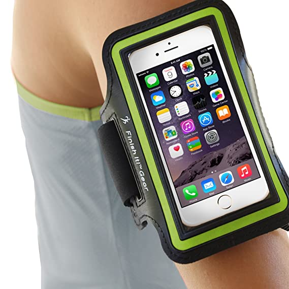newest f5adb 284c9 iPhone 6 Armband for Running, Best iPhone Holder for Running, iPhone 6/6S  Sport Fit Armband for iPhone –The ONLY FULL Plastic Moisture Proof Pouch ...