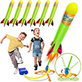 Toy Rocket Launchers for Kids-Outdoor Toys for Boys with 6 Foam Air Jump Rockets-Perfect Sports Games Birthday Gifts for…