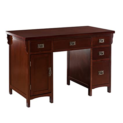 Bon Southern Enterprise Mission Computer Desk   Dark Cherry