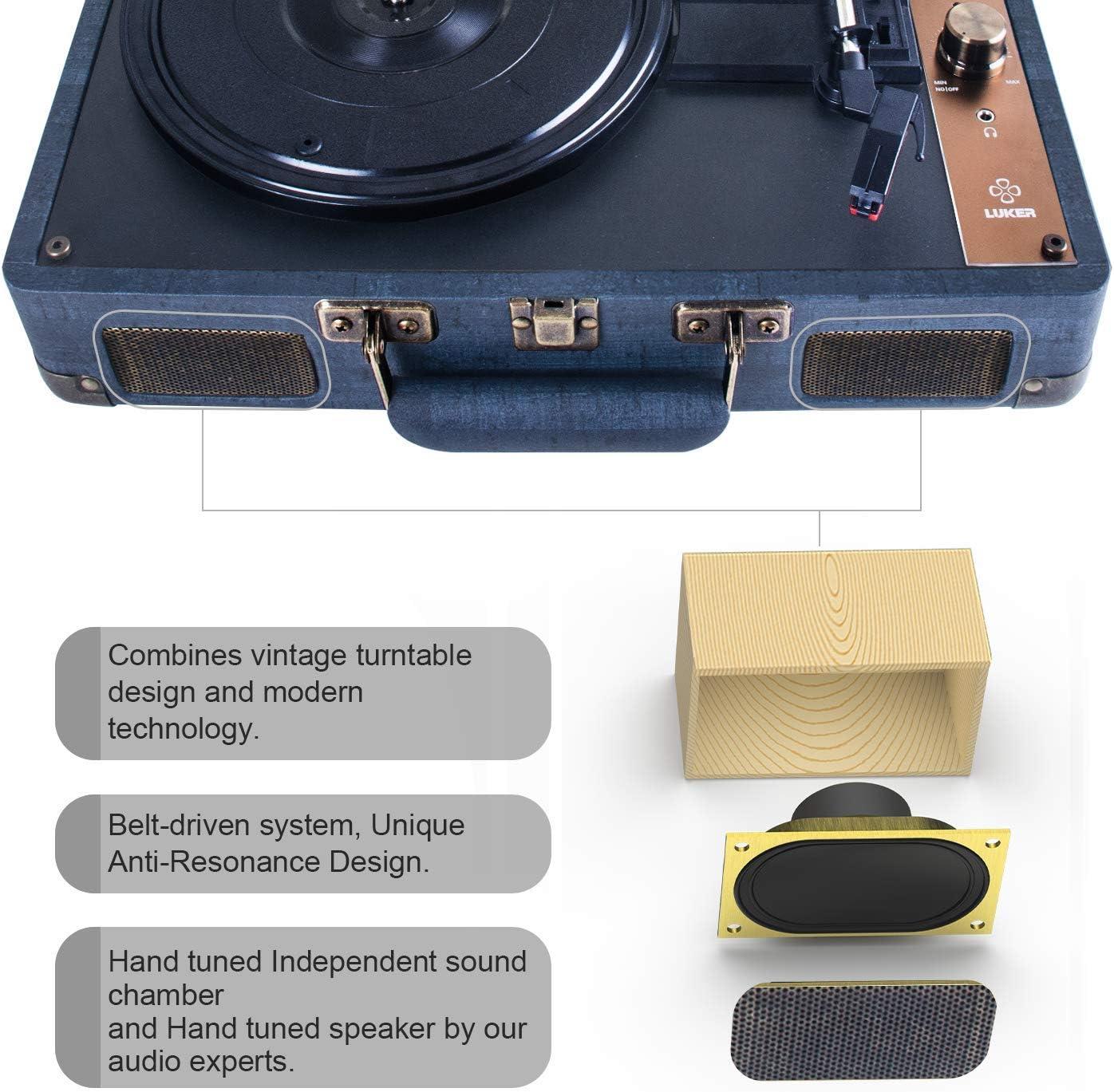 Amazon.com: LUKER - Reproductor de grabación, portátil con ...