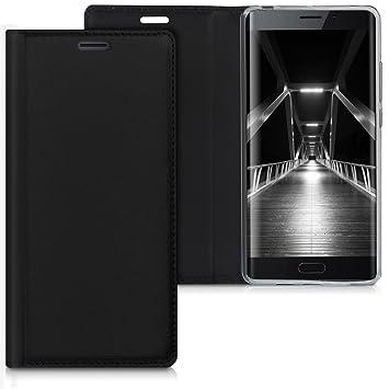 kwmobile Funda compatible con Xiaomi Mi Note 2 - Carcasa para móvil de cuero sintético - Case en negro