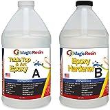 Magic Resin | 2 Gallon (7.6 L) | Table Top & Art Epoxy Resin Kit | Non-Toxic | Premium Quality | High Gloss Thick Clear Coat