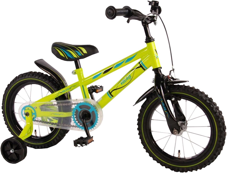 Bicicleta Niño de 14 pulgadas Ruedas Extraíbles Verde - 95% Montado