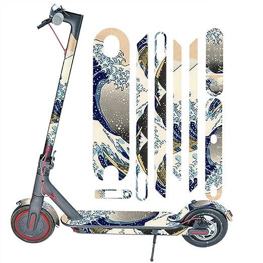 Nicolarisin Accesorios de Bicicleta Scooter eléctrico de Todo el Cuerpo Pegatinas Cinta Paster Antideslizante Xiaomi Mijia M365 Incluya la Etiqueta ...